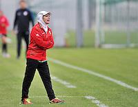 Monfalcone, Italy, April 26, 2016.<br /> Iran's head coach Mahini reacts during USA v Iran football match at Gradisca Tournament of Nations (women's tournament). Monfalcone's stadium.<br /> © ph Simone Ferraro / Isiphotos
