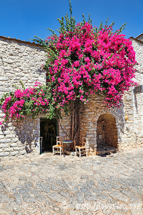 A small cafe of the town Areopolis in Mani, Greece
