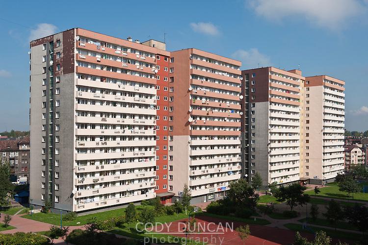 Tower block apartments, Chorzow, Poland