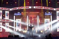 BARRETOS,SP, 22.08.2015 - BARRETOS-SHOW - O cantor Luan Santana durante apresentação na 60ª edição da Festa do Peão de Boiadeiro de Barretos, no interior de São Paulo, na noite de ontem (21). (Foto: Paduardo/Brazil Photo Press)
