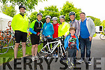 Shane Power, Martin Allen, Elish Cronin, Aoife Cronin, Laura Wickham, Frank O'Connor, John Hegarty, Trainer and Tyler Gutherie at the Kerry Emergency Services 75km Cycle in aid of Alzeimhers and South West Counselling starting at the Tralee Town Park on Saturday