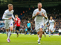 Leeds United's Pontus Jansson celebrates scoring his side's equalising goal<br /> <br /> Photographer Alex Dodd/CameraSport<br /> <br /> The EFL Sky Bet Championship - Leeds United v Brentford - Saturday 6th October 2018 - Elland Road - Leeds<br /> <br /> World Copyright &copy; 2018 CameraSport. All rights reserved. 43 Linden Ave. Countesthorpe. Leicester. England. LE8 5PG - Tel: +44 (0) 116 277 4147 - admin@camerasport.com - www.camerasport.com