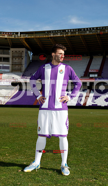 Valdet Rama is presented as new player of Real Valladolid Football Club in Zorrilla Stadium. January 31, 2013. (Alterphotos/Victos J Blanco) /NortePhoto