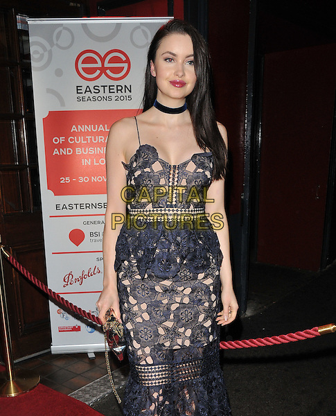 Emma Miller attends the Eastern Seasons Week gala dinner, Madame Tussaud's ( London ), Marylebone Road, London, UK, on Monday 30 November 2015.<br /> CAP/CAN<br /> &copy;Can Nguyen/Capital Pictures