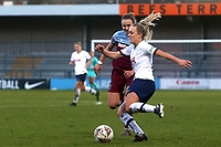 Rianna Dean of Tottenham Hotspur women and Laura Vetterlein of West Ham United women during Tottenham Hotspur Women vs West Ham United Women, Barclays FA Women's Super League Football at the Hive Stadium on 12th January 2020