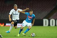 Jasmin Kurtic Atalanta e Marko Rog Napoli<br /> Napoli 27-08-2017  Stadio San Paolo <br /> Football Campionato Serie A 2017/2018 <br /> Napoli - Atalanta<br /> Foto Cesare Purini / Insidefoto