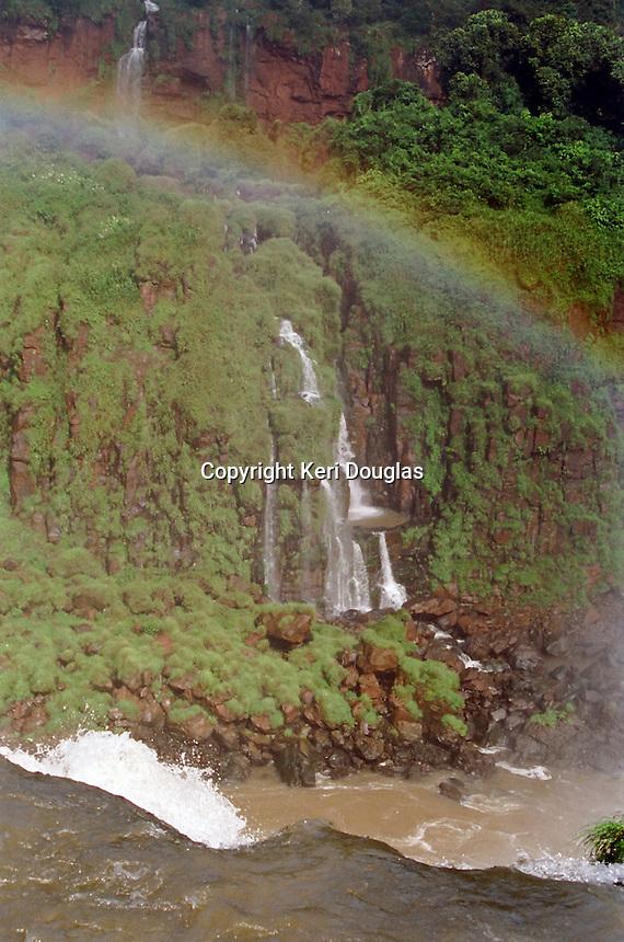 Rainbow over Iguazu Falls, Brazil