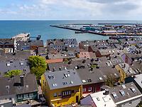 Blick vom Oberland auf Südhafen, Insel Helgoland, Schleswig-Holstein, Deutschland, Europa<br /> South Port seen from Oberland, Helgoland island, district Pinneberg, Schleswig-Holstein, Germany, Europe