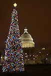 Christmas tree lights with United States Capitol in background Washington D.C., Washington DC at Christmas, Washington, D.C. fine art photography by Ron Bennett ©. Copyright, Washington DC, District, DC, capital, Potomac River, Washington Metropolitan, metropolitan area, federal district, federal government of USA, US Congress, White House, National Mall, Fine Art Photography by Ron Bennett, Fine Art, Fine Art photo, Art Photography,