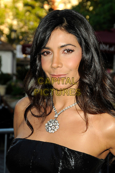 "PATRICIA MANTEROLA.""The Perfect Game"" Los Angeles Premiere held At The Pacific Theaters at the Grove, Los Angeles, California, USA. .April 5th, 2010 .headshot portrait silver necklace black strapless.CAP/ROT.©Lee Roth/Capital Pictures"