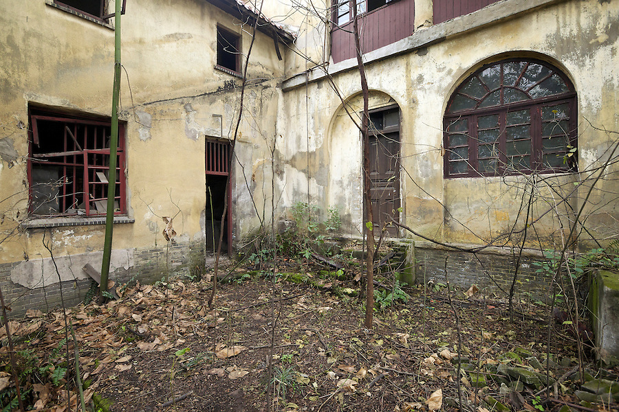 Former Residence In Chongqing (Chungking).  Entrance to Servants' Quarters & Storage Area, And Back Door To The Main House.
