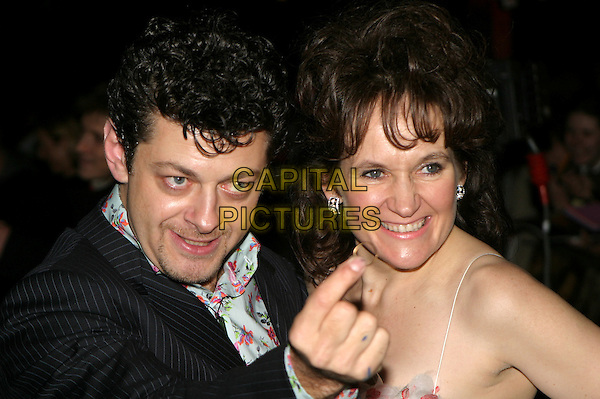 ANDY SERKIS.The Lord Of The Rings: The Return Of The King UK premiere, Odeon Leicester Square.11 December 2003.funny, ring.www.capitalpictures.com.sales@capitalpictures.com.© Capital Pictures.