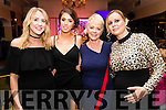 Mallory Higgins, Erica Moran, Ina Commerford and Lorna Galvin pictured at the John Mitchel's Strictly Come Dancing at the Ballygarry House Hotel on Sunday night.