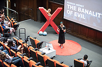 Rumman Chowdhury, Ph.D, Senior Principal at Accenture, Leader of Strategic Global Initiative on Responsible Artificial Intelligence, BBC 100 Women 2017, Forbes Tech contributing author.<br /> Occidental College hosts TEDxOccidentalCollege on April 21, 2018 in Choi Auditorium of Johnson Hall. Students, faculty, alums and guest speakers delivered their TEDx Talk on the theme, Shifting Ecosystems of Power.<br /> (Photo by Marc Campos, Occidental College Photographer)