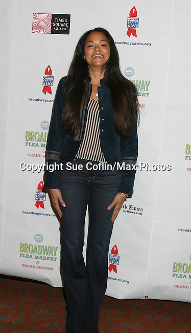 """Karen Olivo - AMC """"Natash"""" in Murder Ballad at The 26th Annual Broadway Flea Market and Grand Auction to benefit Broadway Cares/Equity Fights Aids on September 23, 2012 in Shubert Alley and Times Square, New York City, New York.  (Photo by Sue Coflin/Max Photos)"""