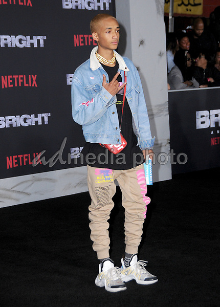 "13 December  2017 - Westwood, California - Jaden Smith. Netflix's ""Bright"" Los Angeles Premiere held at Regency Village Theatre in Westwood. Photo Credit: Birdie Thompson/AdMedia"