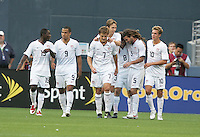 USA Men's Team celebrate Robbie Roger's (7) goal. USA defeated Grenada 4-0 during the First Round of the 2009 CONCACAF Gold Cup at Qwest Field in Seattle, Washington on July 4, 2009.