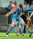 19/08/2010   Copyright  Pic : James Stewart.sct_jsp016_dundee_utd_v_aek_athens  .:: DAVID GOODWILLIE IS TAKEN OUT BY MAKOS GRIGORIS:: .James Stewart Photography 19 Carronlea Drive, Falkirk. FK2 8DN      Vat Reg No. 607 6932 25.Telephone      : +44 (0)1324 570291 .Mobile              : +44 (0)7721 416997.E-mail  :  jim@jspa.co.uk.If you require further information then contact Jim Stewart on any of the numbers above.........