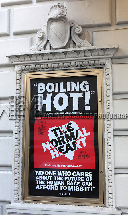 Theatre Marquee for  the Broadway Opening Night Performance  for 'The Normal Heart' in New York City.