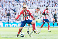 Real Madrid Lucas Vazquez and Atletico de Madrid Antoine Griezmann during La Liga match between Real Madrid and Atletico de Madrid at Santiago Bernabeu Stadium in Madrid, Spain. April 08, 2018. (ALTERPHOTOS/Borja B.Hojas) /NortePhoto NORTEPHOTOMEXICO