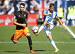 CD Leganes' Alexander Szymanowski (r) and Valencia CF's Munir El Haddadi during La Liga match. September 25,2016. (ALTERPHOTOS/Acero)