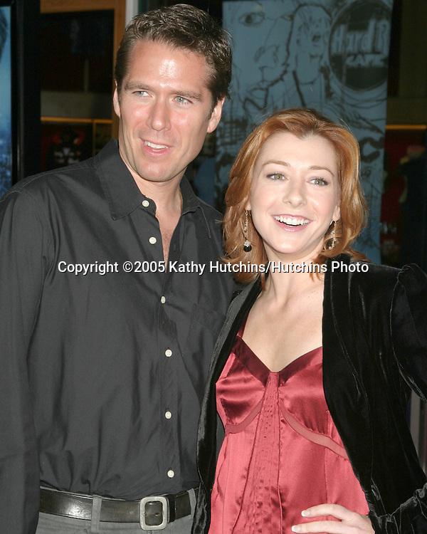 Alexis Denisof.Alyson Hannigan.Serenity Premiere.City Walk.Universal City, CA.September 22, 2005.©2005 Kathy Hutchins / Hutchins Photo