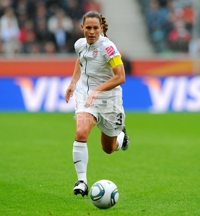 Christie Rampone of team USA during the FIFA Women's World Cup at the FIFA Stadium in Moenchengladbach, Germany on July 13th, 2011.