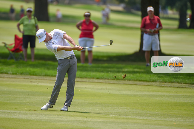 Zach Johnson (USA) hits his approach shot on 9 during 4th round of the World Golf Championships - Bridgestone Invitational, at the Firestone Country Club, Akron, Ohio. 8/5/2018.<br /> Picture: Golffile   Ken Murray<br /> <br /> <br /> All photo usage must carry mandatory copyright credit (© Golffile   Ken Murray)