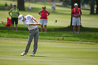 Zach Johnson (USA) hits his approach shot on 9 during 4th round of the World Golf Championships - Bridgestone Invitational, at the Firestone Country Club, Akron, Ohio. 8/5/2018.<br /> Picture: Golffile | Ken Murray<br /> <br /> <br /> All photo usage must carry mandatory copyright credit (© Golffile | Ken Murray)