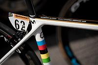 World Champion Alejandro Valverde (ESP/Movistar) - bike details<br /> <br /> Stage 4: Reims to Nancy(215km)<br /> 106th Tour de France 2019 (2.UWT)<br /> <br /> ©kramon