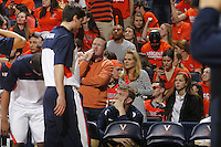 during an NCAA basketball game Saturday Feb, 24, 2014 in Charlottesville, VA. Virginia defeated Miami 65-40.
