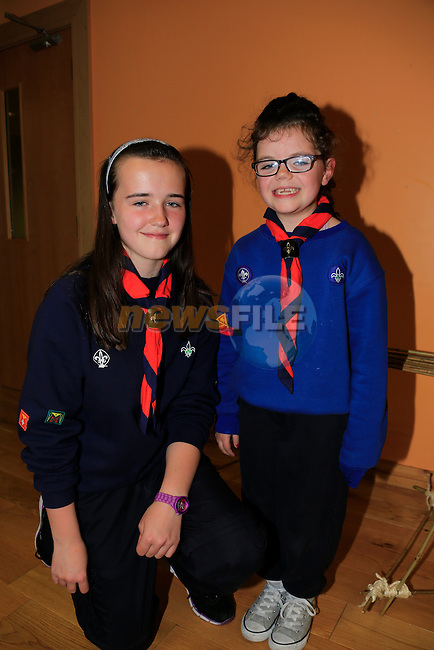 Geraldine Doyle and Aine Finnegan Droghedas new Scout Group 14th Louth St.Martins.<br /> Picture: www.newsfile.ie