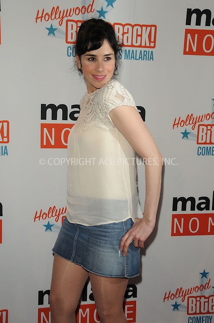 WWW.ACEPIXS.COM . . . . . ....April 16 2011, Los Angeles....Actress Sarah Silverman arriving at Malaria No More Presents: Hollywood Bites Back! at Club Nokia L.A. Live on April 16, 2011 in Los Angeles, CA....Please byline: PETER WEST - ACEPIXS.COM....Ace Pictures, Inc:  ..(212) 243-8787 or (646) 679 0430..e-mail: picturedesk@acepixs.com..web: http://www.acepixs.com