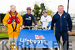 Launching the Fenit  Lifeboat Charity Fun Cycle on Saturday 9th of May 2015.Support Fenit Lifeboat and get on your bike were Guy Waugh, Mike McDonnell, Tom Mc Cormack,  Mike O'Connor