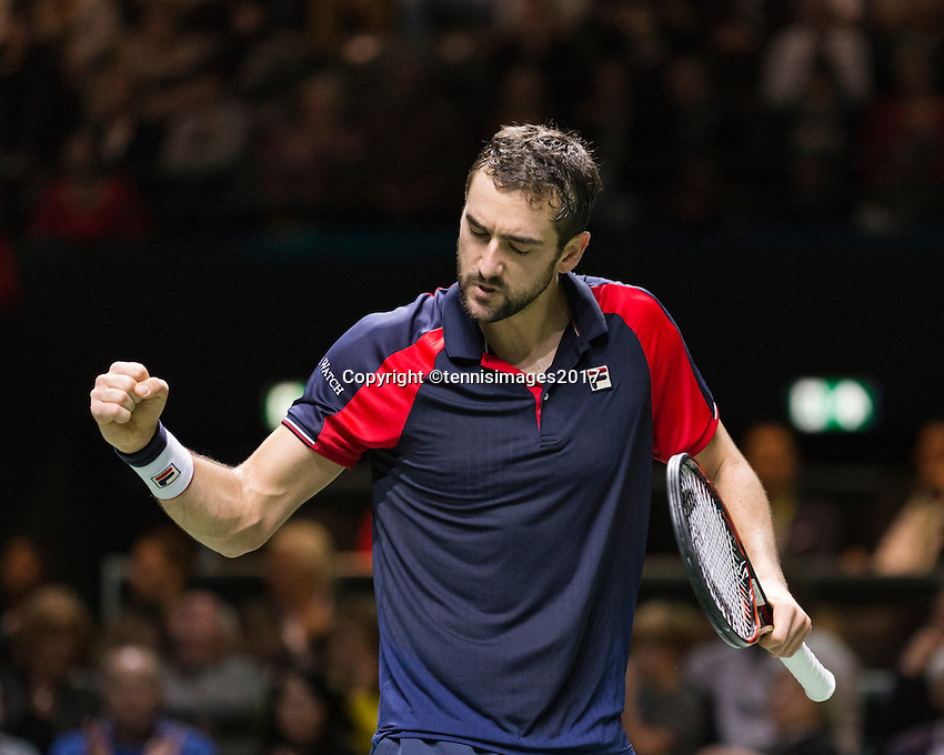 ABN AMRO World Tennis Tournament, Rotterdam, The Netherlands, 17 Februari, 2017, Marin Cilic (CRO)<br /> Photo: Henk Koster