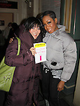 "Love, Loss, and What I Wore starring Tichina Arnold (AMC ""Sharla Valentine"" and Ryan's Hope) and Ann Harada (ATWT and Avenue Q)) on December 5, 2010 at Westside Theatre, NYC. (Photo by Sue Coflin/Max Photos)"