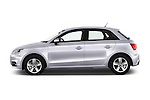 Car Driver side profile view of a 2015 Audi A1 Sportback 5 Door Hatchback Side View