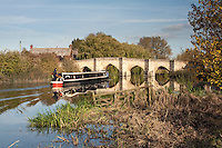 Barge on the River Thames at Newbridge in Oxfordshire, Uk