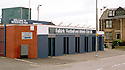 General view of the Hope Street entrance of Brockville Park, former home of Falkirk FC.