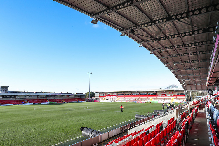 A general view of the Highbury Stadium  <br /> <br /> Photographer Andrew Kearns/CameraSport<br /> <br /> The EFL Sky Bet League One - Fleetwood Town v Charlton Athletic - Saturday 2nd February 2019 - Highbury Stadium - Fleetwood<br /> <br /> World Copyright © 2019 CameraSport. All rights reserved. 43 Linden Ave. Countesthorpe. Leicester. England. LE8 5PG - Tel: +44 (0) 116 277 4147 - admin@camerasport.com - www.camerasport.com