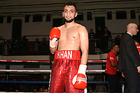 Daniel Khan (red shorts) defeats Ivan Godor during a Boxing Show at York Hall on 10th February 2018