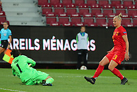 20191008 CLUJ NAPOCA: Belgium's Ella van Kerkhoven (3)  is attempting a goal at the match between Belgium Women's National Team and Romania Women's National Team as part of EURO 2021 Qualifiers on 8th of October 2019 at CFR Stadium, Cluj Napoca, Romania. PHOTO SPORTPIX | SEVIL OKTEM