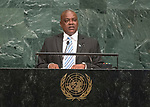 72 General Debate – 20 September <br /> <br /> His Excellency Mokgweetsi Eric Masisi, Vice-President of the Republic of Botswana