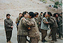 Iran 1999.Kala Resh: PKK women's fighters taking leave before crossing the border to Iraq  Iran 1999. A Kala Resh, combattantes du PKK faisant leurs adieux a leurs camarades avant de franchir la frontière vers l'Irak