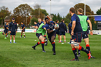 London Scottish players during warm ups during the Greene King IPA Championship match between London Scottish Football Club and Doncaster Knights at Richmond Athletic Ground, Richmond, United Kingdom on 30 September 2017. Photo by Jason Brown / PRiME Media Images.