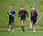 Martyn Waghorn and Josh Windass working with Stevie Walker
