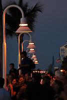Sunset Wharf crowds, Key West, FL, USA