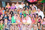 2320-2324.Hula Hula: Laura Baker, Ballybeggan, Tralee (seated centre) had a wild and colourful Hawaiian style 21st birthday bash in the Meadowlands Hotel, Oakpark, Tralee last Saturday night with many family and friends.