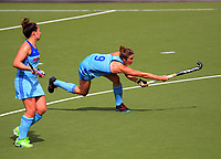 Northland's Brooke Neal scores during the National Hockey League women's match between Mark Cromie Holden Northland and Southern Storm at National Hockey Stadium in Wellington, New Zealand on Thursday, 21 October 2017. Photo: Dave Lintott / lintottphoto.co.nz