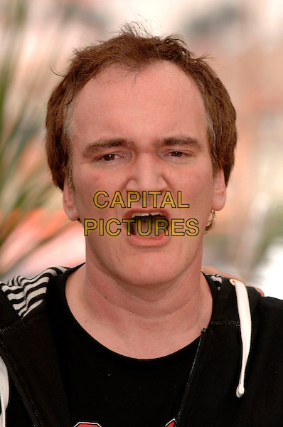 "QUENTIN TARANTINO.""Death Proof"" photocall during the 60th International Cannes Film Festival, Cannes, France..May 22nd, 2007.portrait headshot mouth open .CAP/PL.©Phil Loftus/Capital Pictures"